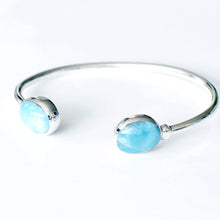 Load image into Gallery viewer, Larimar Cuff Bracelet, Oval