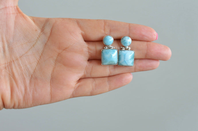 Larimar Earrings, Cielo