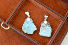 Load image into Gallery viewer, Raw Larimar Pendant, Rustico