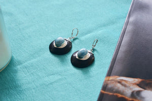 Larimar Earrings, Guayacán