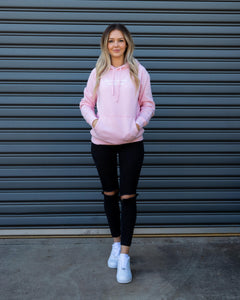 "Pink Hoodie - ""Win The Morning, Win The Day"""