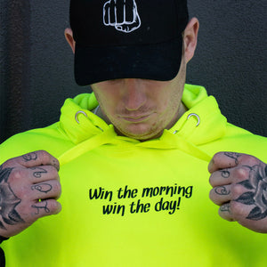 "Yellow Trade Hoodie - ""Win The Morning, Win The Day"""