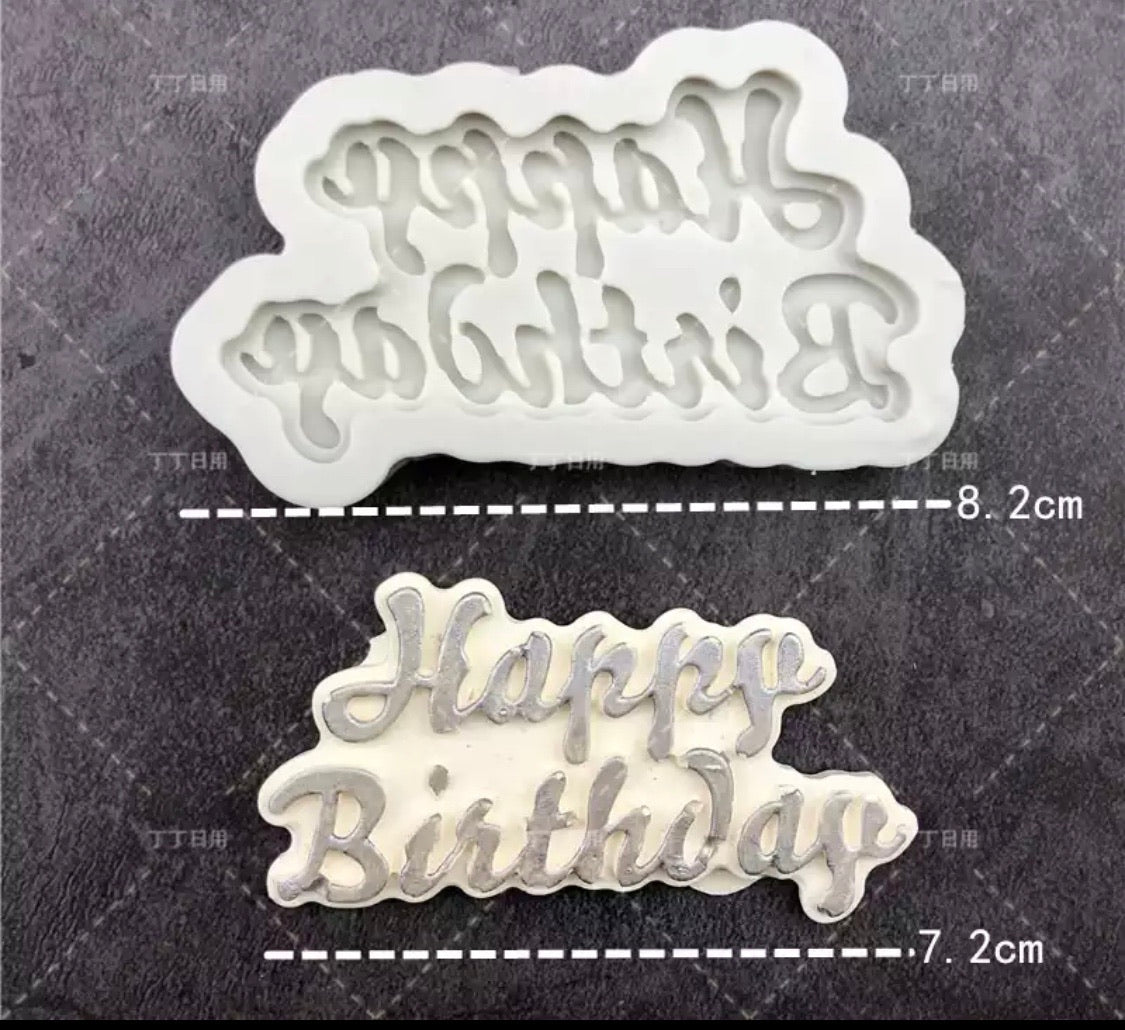 Happy birthday silicone mould