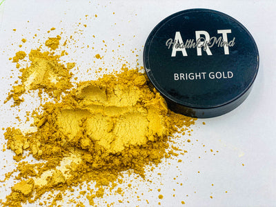 Powder Pigment (Bright Gold) 50grams - Health of Mind Art