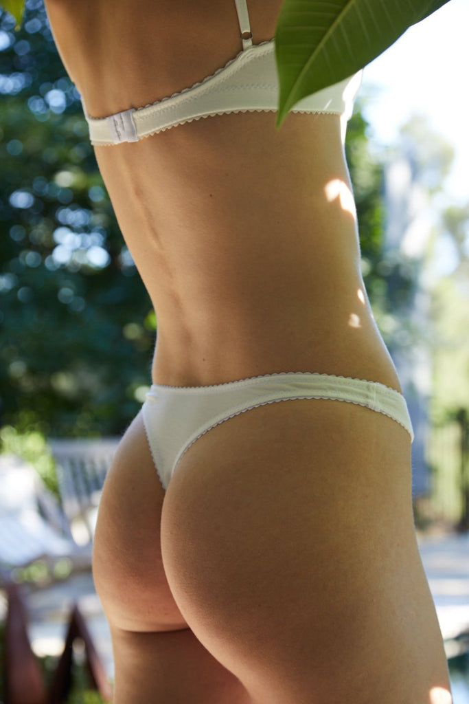 Blair G String Bottoms in White
