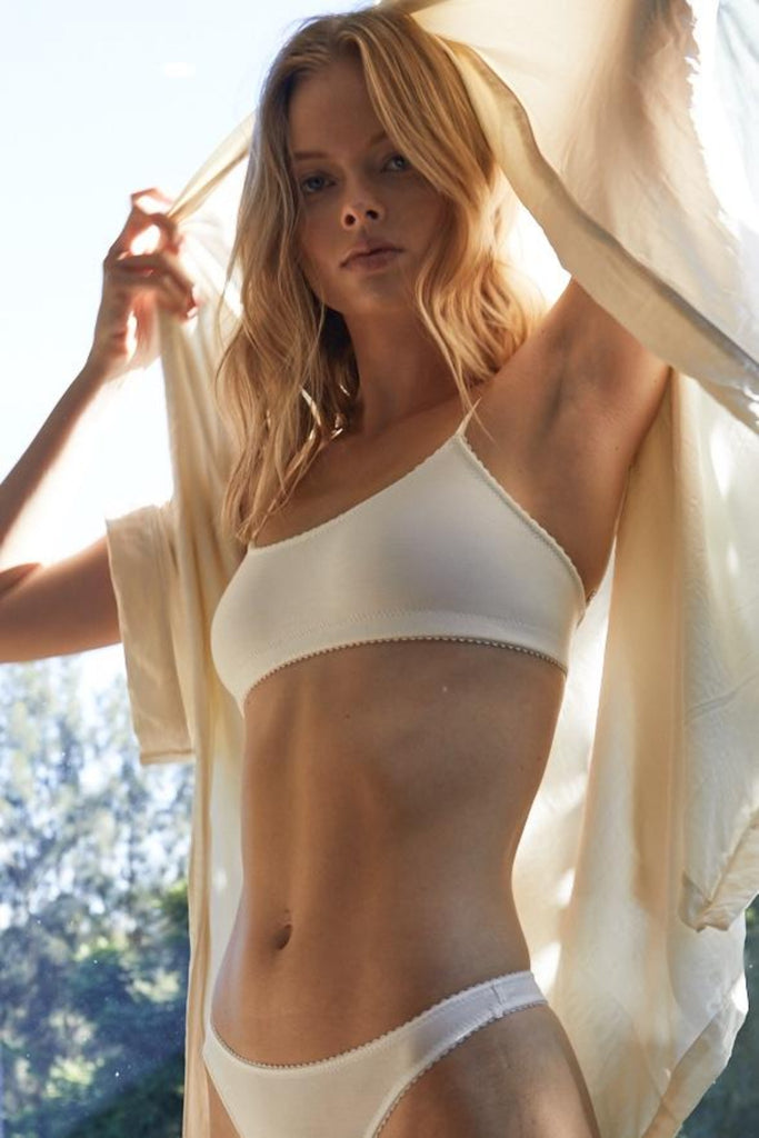 Blair Crop in White