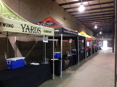 yards brewery and Du Claw vendors