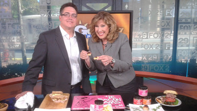sue serio and mike oraschewsky with bacon jam