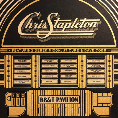 Chris Stapleton New Jersey Gig Poster
