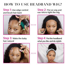 Load image into Gallery viewer, Curly Headband Wig