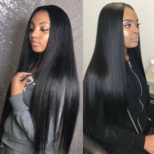 Straight Virgin Lace Closure Wig
