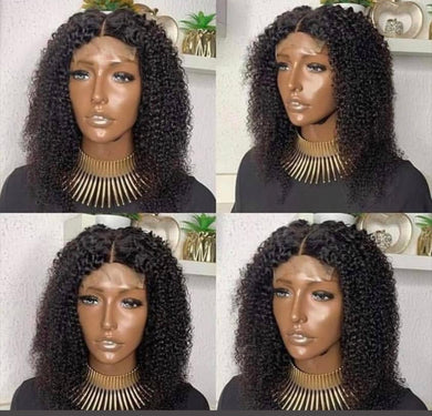 Curly Virgin Lace Closure Wig