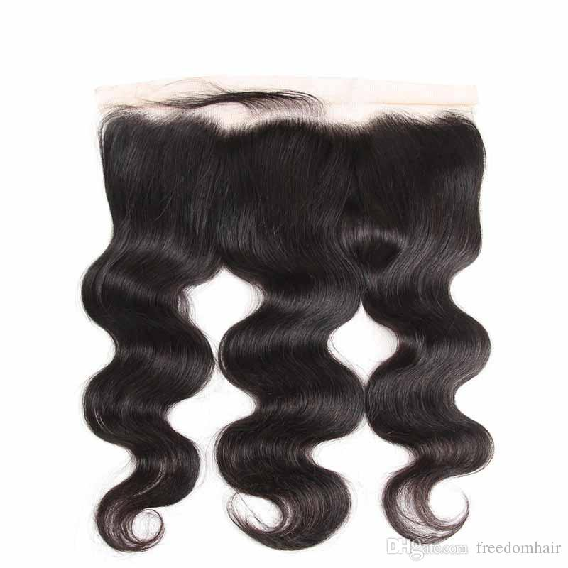 Body Wave Virgin Hair Lace Frontal Closure 13x4 Ear To Ear