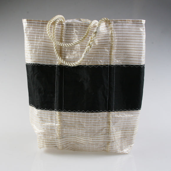Medium Heritage Tech Horizontal Black Stripe Carryall