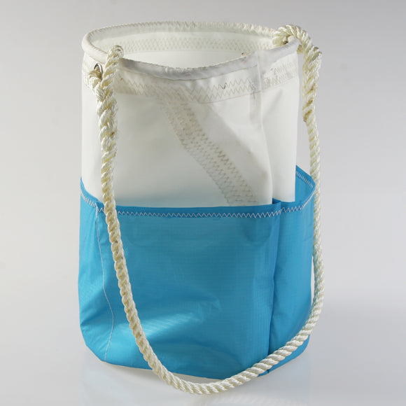 Large Heritage Blue Pocket Utility Bucket