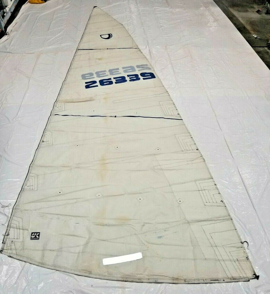 Dacron Main Sail by UK Sailmakers for Tartan 10 in Fair Condition 39' Luff