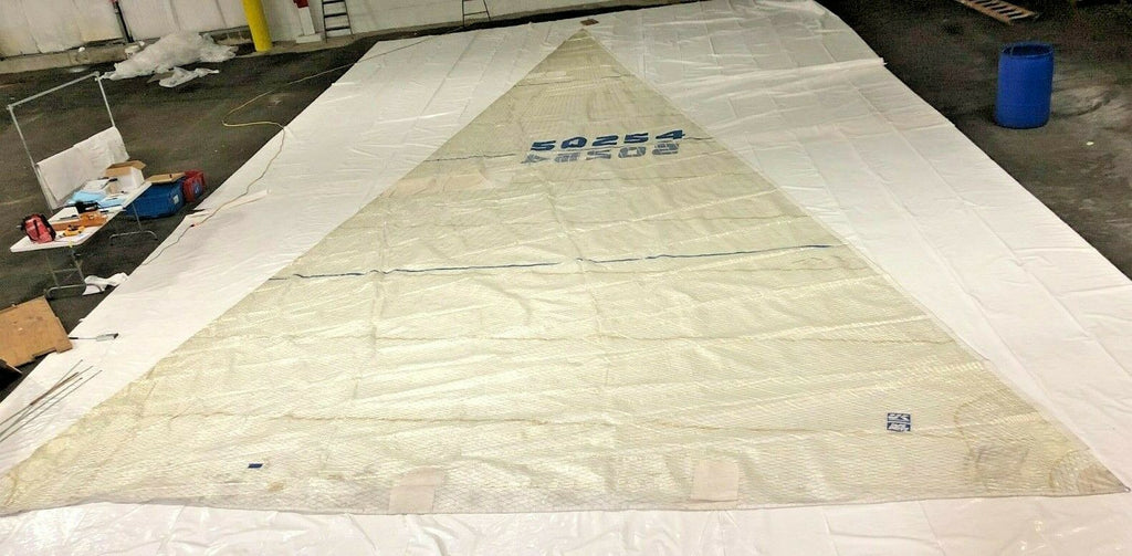 Tape Drive Headsail for C&C 40 in Fair Condition by UK Sails 51.1' Luff
