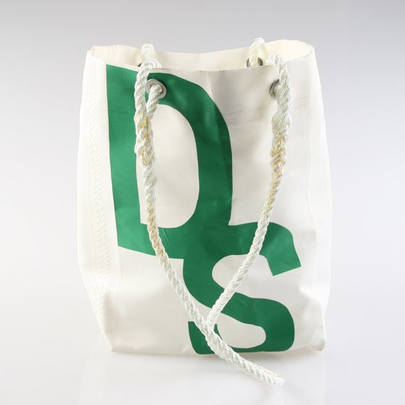 "Medium Heritage Green ""DS"" Carryall"
