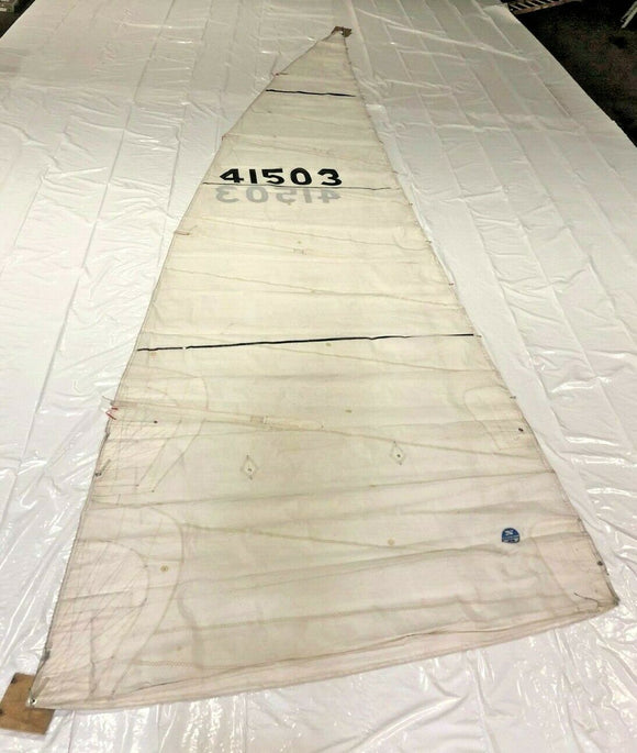 Dacron Mainsail in Fair Condition 38.1' Luff