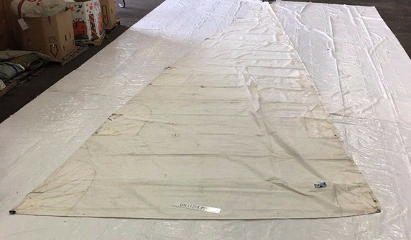 Dacron Mainsail by UK Sailmakers - 40.9' Luff, Fair Condition