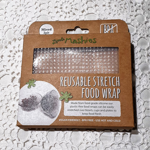Little Mashies Reusable Stretch Food Wrap - Mixed 3 pack