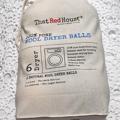 That Red House 100% Pure Wool Dryer Balls
