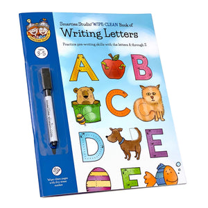Smarties Studio Wipe Clean Book of Writing Letters - Front Cover
