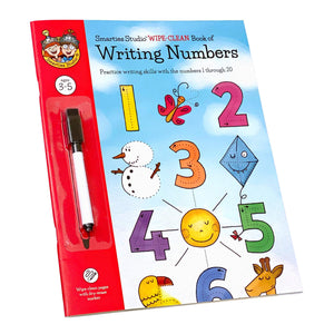 Smarties Studio Wipe Clean Book of Writing Numbers - Front Cover