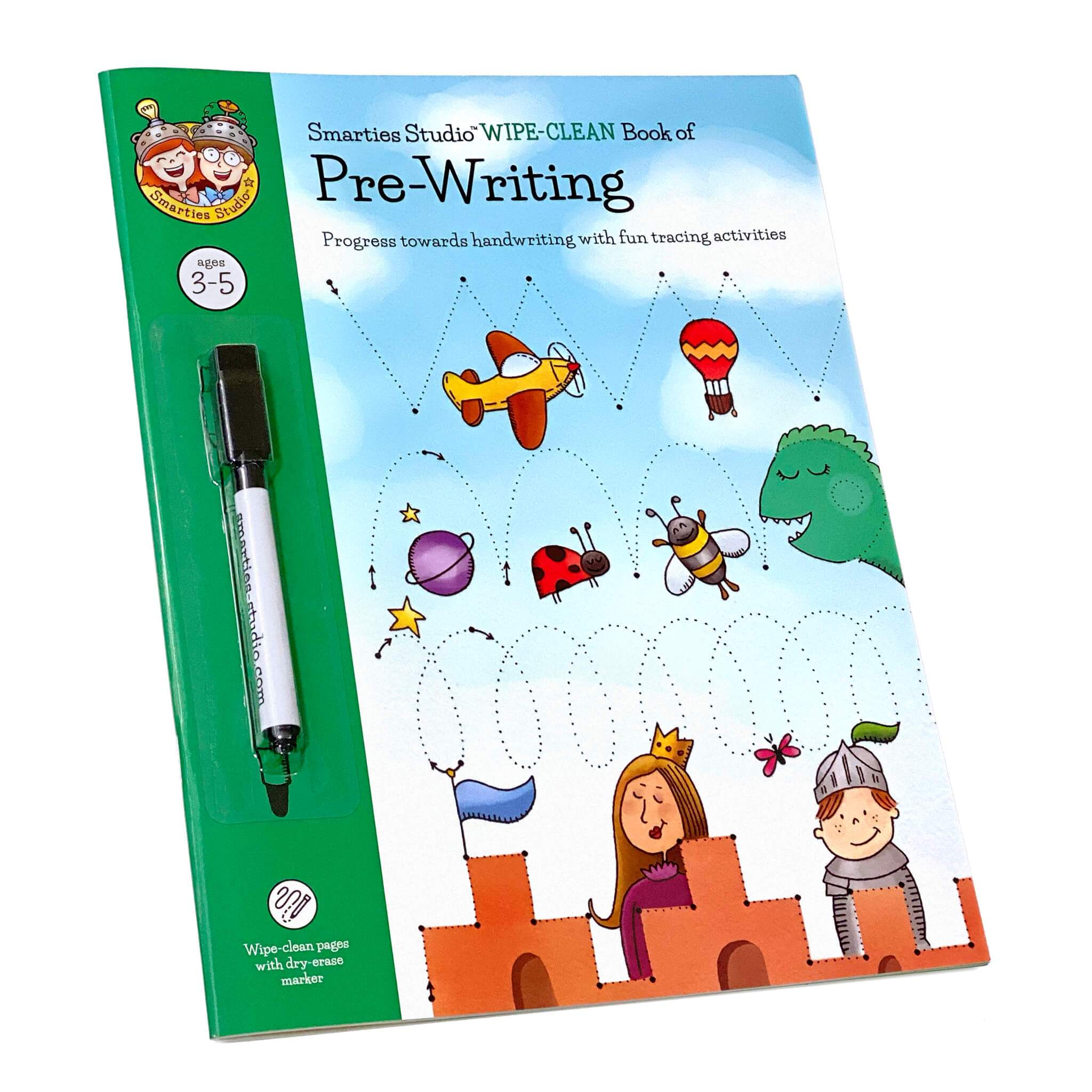 Smarties Studio Wipe Clean Book of Pre-Writing - Front Cover