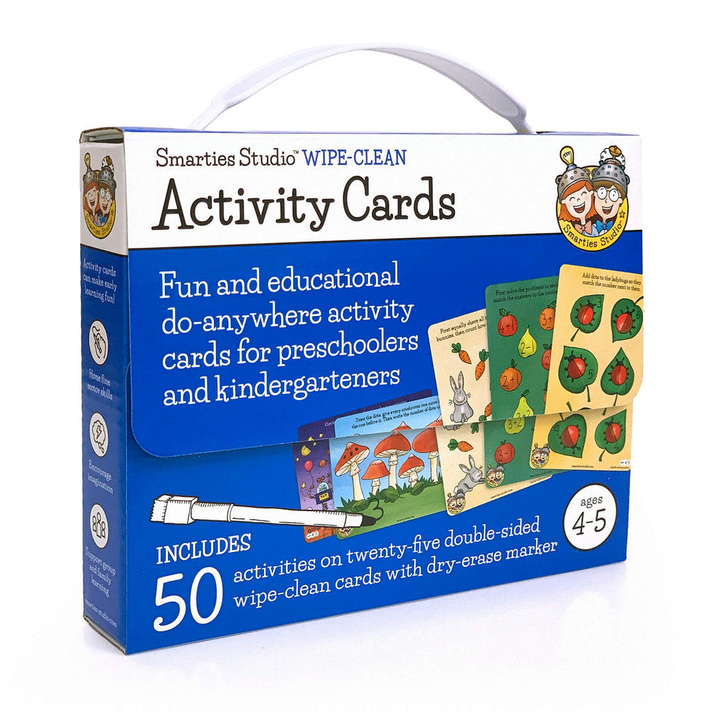 Smarties Studio Wipe Clean Activity Cards for Ages 4-5 ~ Box Front