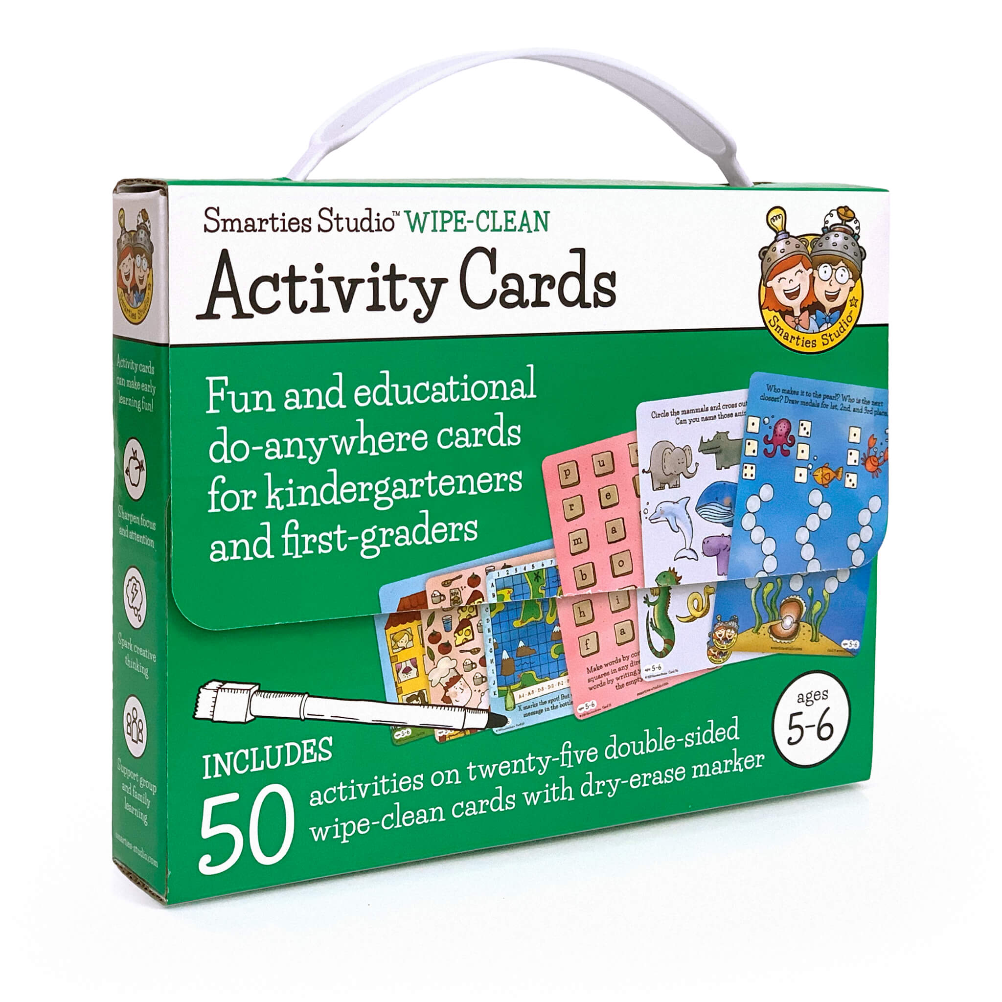 Smarties Studio Wipe Clean Activity Cards for Ages 5-6 ~ Box Front