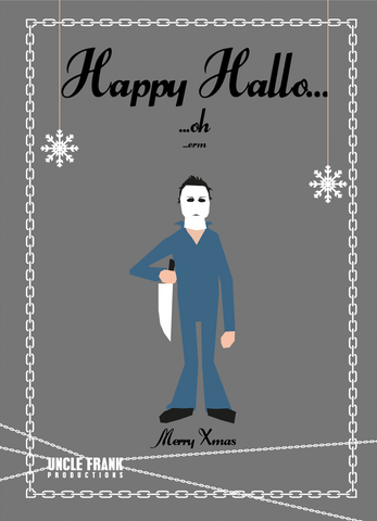 "Horror Greetings 023 ""XMAS HAPPY HALLO"" - individual £3"