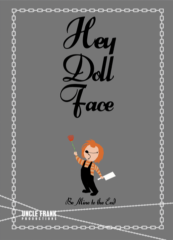 "Horror Greetings 011 ""DOLL FACE"" - individual £3"