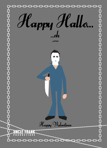 "Horror Greetings 048 ""Valentine Happy Hallo"" - individual £3"