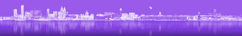 Waterfront Sketch - Purple