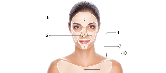 Blackheads Skin Map