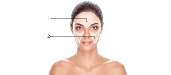 Age Spots and Liver Spots Skin Map