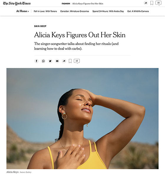 New York Times Alicia Keys Osmosis Enzyme Cleanser