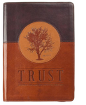 Trust Jeremiah 17:7-8 Journal Lux-Leather Brown with Zipper