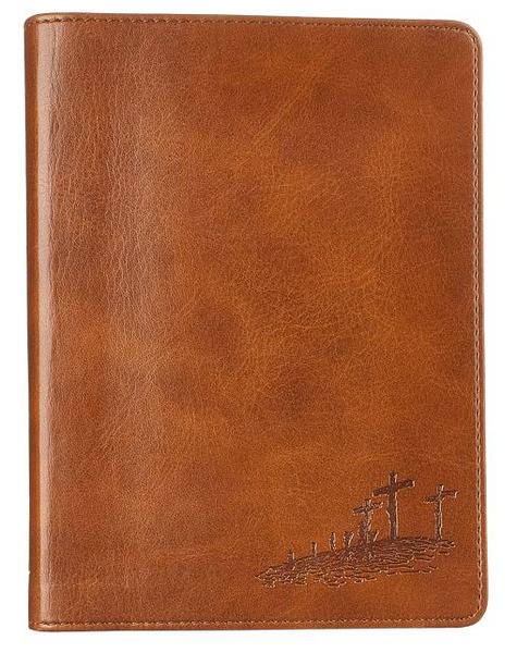 Journal Lux-Leather for God So Loved Brown John 3:16
