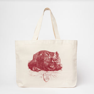 Harper's Magazine Large Red Cat Tote Bag