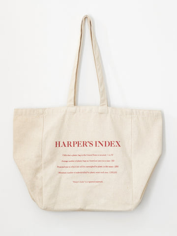 Harper's Index Recycle Tote