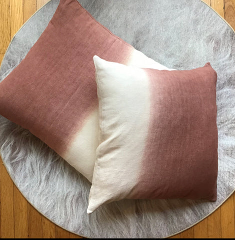 Ombre Washed Linen Pillow
