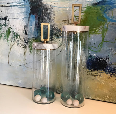 Hayworth Glass Containers   2 Sizes