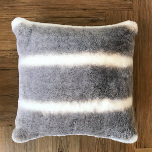 Indigo with Faux Chinchilla Pillow available at Bench Home