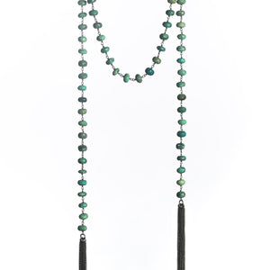 Chrysocolla Lariat Necklace available at Bench Home