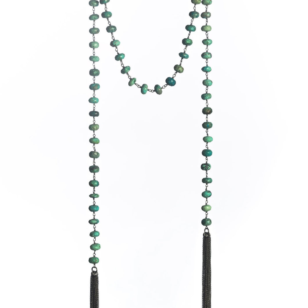Chrysocolla Lariat Necklace