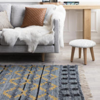 Load image into Gallery viewer, Trails Rug | Light Indigo