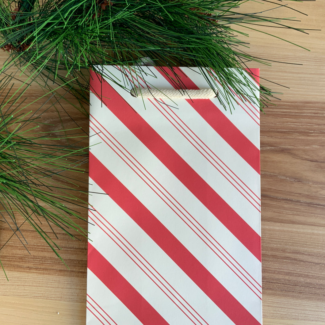 Candy Stripe Wine Gift Bag