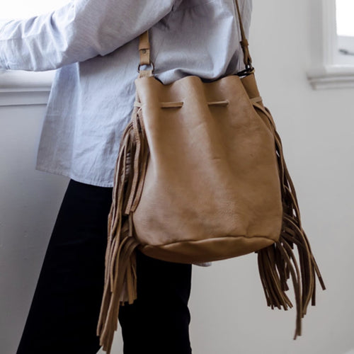Jethro Fringed Bucket Bag